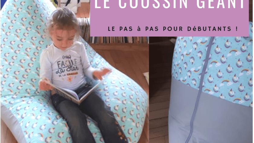 ( Tuto COUTURE ) Le coussin géant de lecture pour enfant – ou adulte !