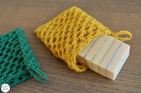 Michel savon holder saver soap crochet zoom