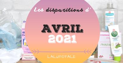 ✞ Les disparitions dans ma salle de bains en Avril 2021 ✞