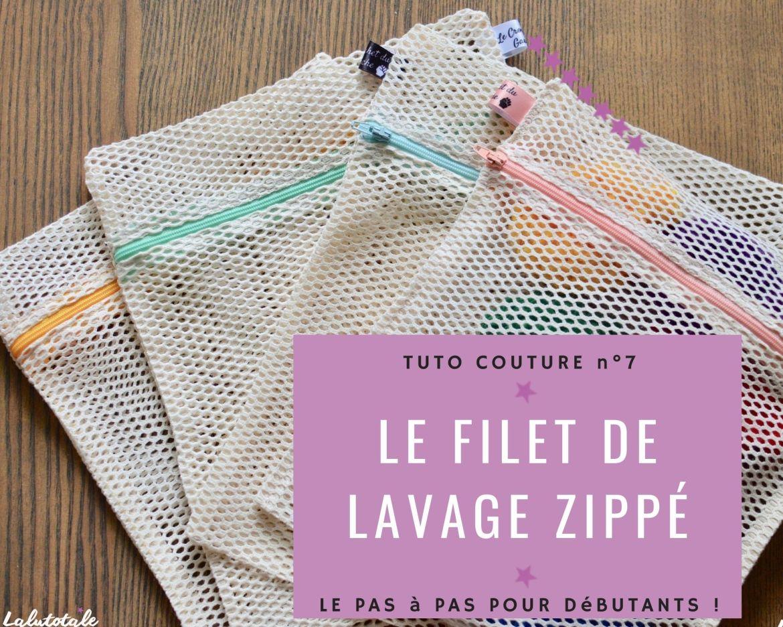tuto couture filets lavage linge pochette machine