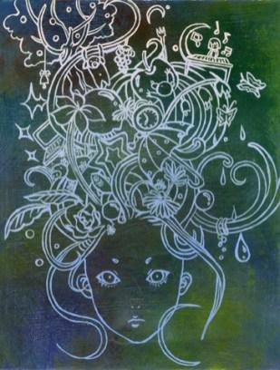 """8"""" X 10 Unframed 10"""" x 12' Framed Acrylic on canvas"""