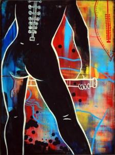 """11.8"""" x 15.7"""" unframed Acrylic on canvas"""
