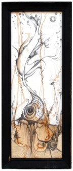 """10"""" x 28"""" Unframed 13"""" x 31"""" Framed Graphite and coffee on paper $300.0 SOLD"""