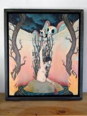 """11"""" x 14"""" (Framed) Acrylic on Wood"""