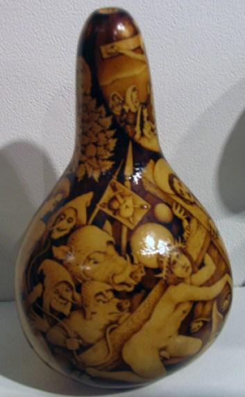 Wood Burned Gourd SOLD