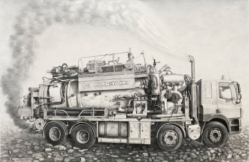 """Charcoal and graphite on paper, framed 39.25"""" x 21.5"""" $2,500.00"""
