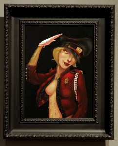 """Acrylic on wood 9"""" x 12"""" in 18"""" x 22"""" frame $1,100.00 Sold"""