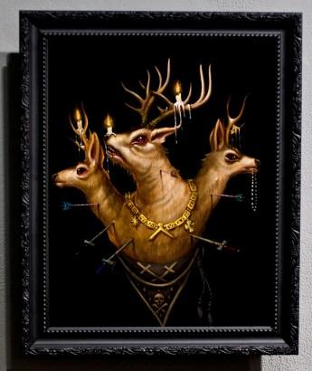 "Acrylic on wood 9"" x 12"" in 13.5"" x 16.5"" frame $820.00"