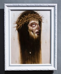 "Acrylic on wood 9"" x 12"" in 11.5"" x 14.5"" frame $820.00"