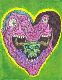 """Ink and colored pencil on paper 9"""" x 12"""" $220.00"""