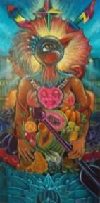"Acrylic on canvas 12"" x 24"" in 15"" x 27"" frame $800.00"