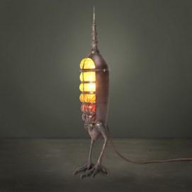 "Copper, bronze, blown glass 2.5"" x 15"" x 2.5"" $900.00 Sold"