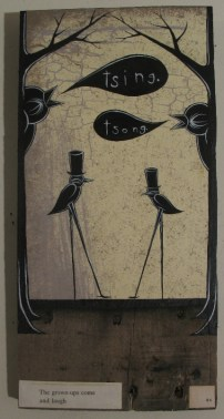 "Mixed media on wood 6"" x 12"" $120.00 Sold"