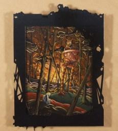"Acrylic on wood panel in custom frame 11"" x 14"" $400.00 Sold"