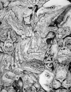 """Micron ink pen and pencil on bristol board 18"""" x 24"""" $1,500.00"""