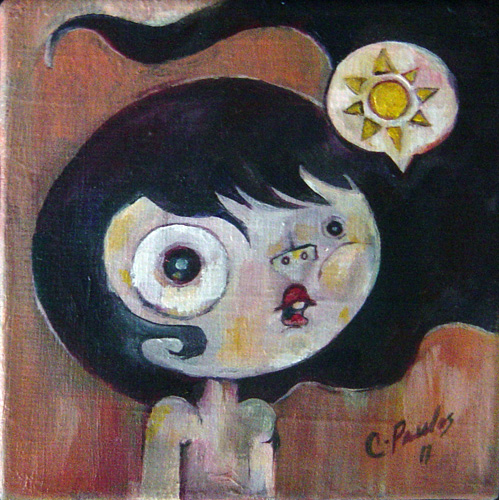 "Oil on canvas 5"" x 5"" $250.00"