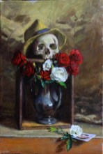 "Oil on canvas 16"" x 24"" in 17"" x 25"" frame $1,800.00"