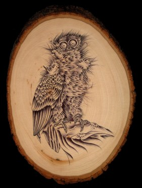 "Ballpoint pen on wood 6"" x 9"" $700.00"