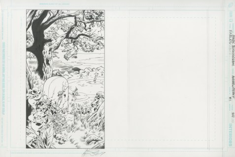 """Issue #81, Page 24: The Death of Boy Blue Final Page Splash of """"The Dark Ages"""" Graphite and ink on board 17"""" x 11.5"""" $950.00"""