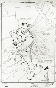 """Issue #2, Variant Cover Reprinted on Omnibus Cover Graphite and ink on board 11"""" x 17"""" $1,500.00"""