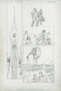 "Issue #7, Page 3: Earth's New Champions Graphite on board 11.5"" x 17"" $2,000"