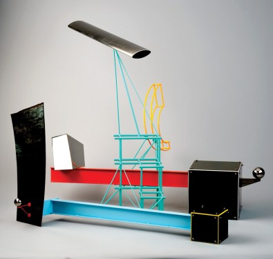 """Stainless steel and enamel 31.75"""" x 18.5"""" x 28.5"""" $17,000.00"""