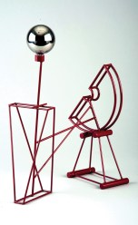 """Stainless steel and enamel 14.5"""" x 6"""" x 30.25"""" $5,000.00"""