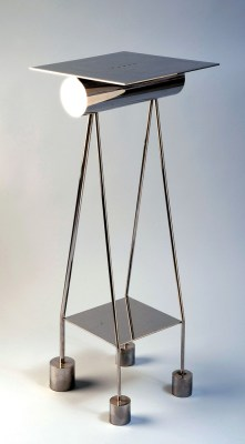 """Stainless steel and enamel 17.5"""" x 18"""" x 19.5"""" $5,000.00"""