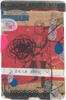 "Mixed media collage on paper 6.75"" x 10.25"" $300.00 Sold"