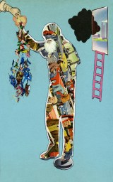 """Collage printed on doormat 30"""" x 20"""" $250.00"""