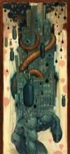 """Acrylic on wood 30"""" x 65"""" $15,000.00"""