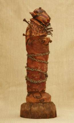 """Antique found objects assemblage 16"""" x 4.5"""" $400.00"""