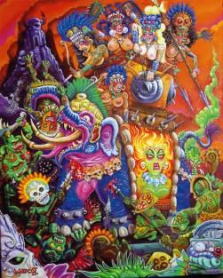 """Acrylic on canvas 16"""" x 20"""" $3,000.00"""