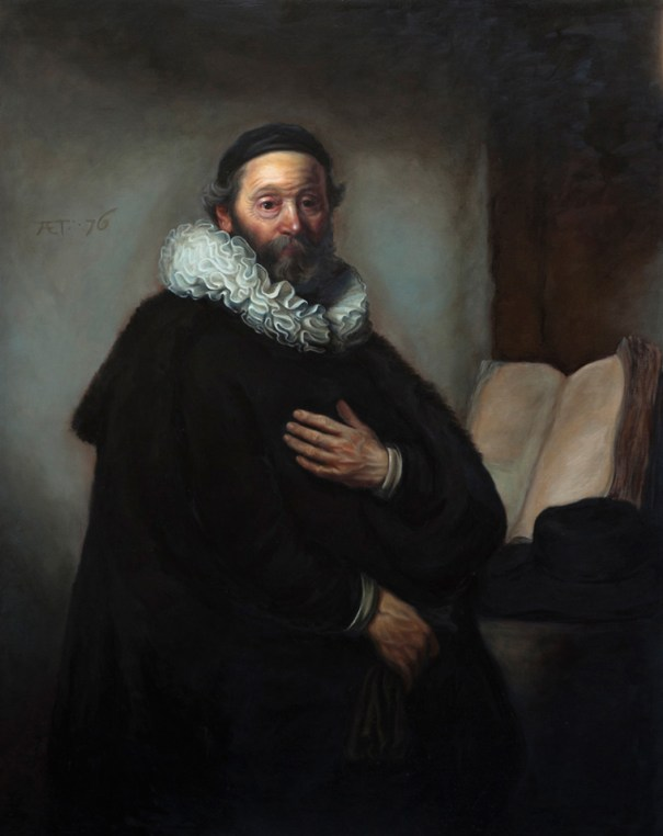 Shaun Berke - Old Man Ruffles and the Big Book of Priestly Wisdom (After Rembrandt)