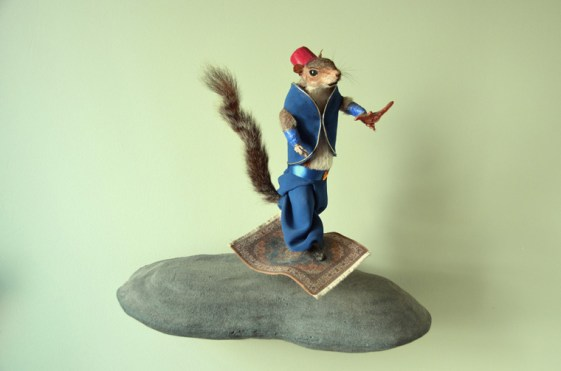 Jeanie M - Arabian Squirrel on a Flying Carpet