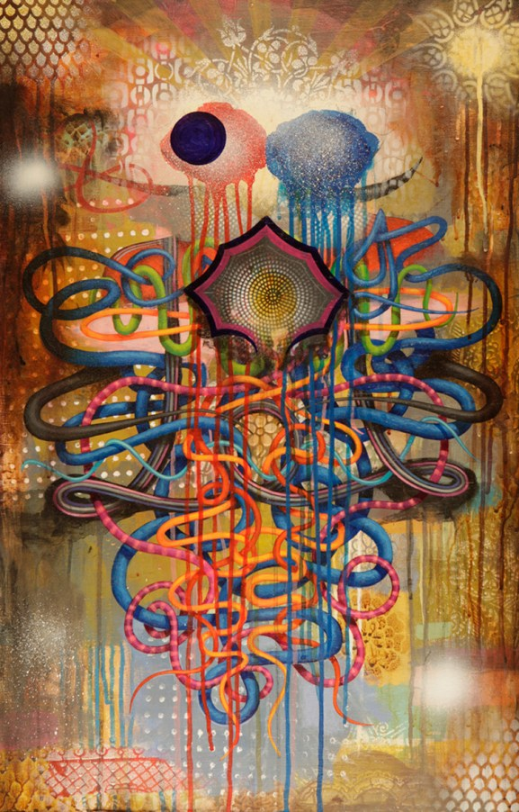 Germs - Mierda acrylic on wood, 20x30 in. $2,800