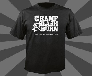 John Scarpati - Cramp, Slash & Burn Black T-Shirt