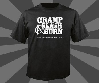 John Scarpati - Cramp, Slash & Burn Black T-Shirt