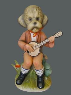 Click Mort -Morose Poodle Playing a Banjo