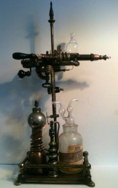 14 x 25 x 10 in. Vintage laboratory glass, mixed media $1,000.00