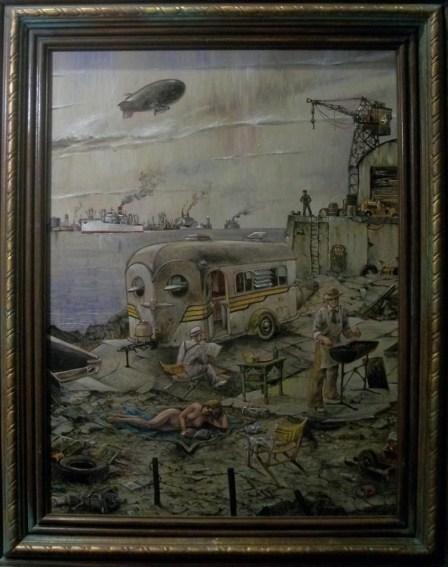 8 x 10 in. / 15.5 x 19.75 in. framed, Oil on masonite $800.00 Sold