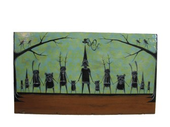 25 x 12 in. Mixed media on wood $800.00 Sold