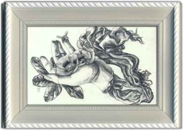 4 x 6 in. / 7 x 9 in. framed, Graphite on hardboard $275.00