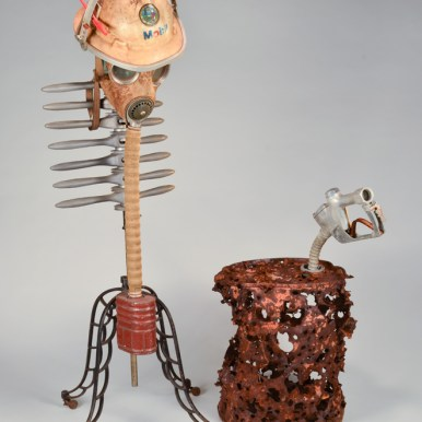 58 x 44 x 25 in. Mixed media found objects $2,000.00