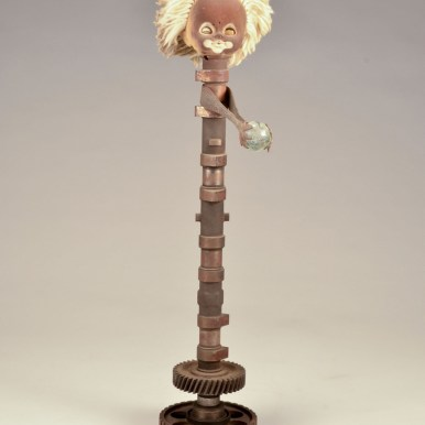 20 x 4.25 x 8 in. Mixed media found objects $250.00 Sold