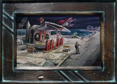 10 x 15 in. / 15.75 x 21 in. framed, Oil on masonite $400.00 Sold
