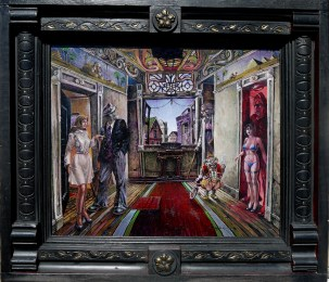 14 x 11 in. / 16.75 x 19 in. framed, Oil on masonite $550.00 Sold