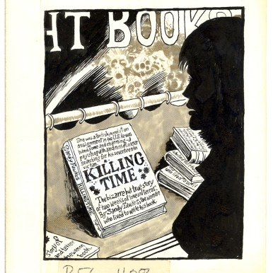 First Underground Comix Work of Joe Coleman; Final Days of Paul John Knowles, 1988 Ink on paper 6 x 5.25 in. Sold