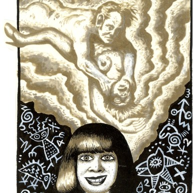 First Underground Comix Work of Joe Coleman; Final Days of Paul John Knowles, 1988 Ink on paper 5.25 x 4.63 in. SOLD