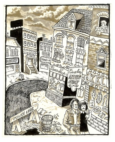 First Underground Comix Work of Joe Coleman; Final Days of Paul John Knowles, 1988 Ink on paper 5 x 4.25 in. $2,500
